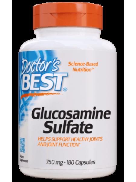 Глюкозамин сульфат, Doctor's Best, 180 капсул.